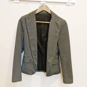 Express Gray Single Button Fitted Blazer Size 4